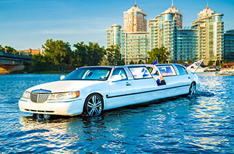 Party limousine on water